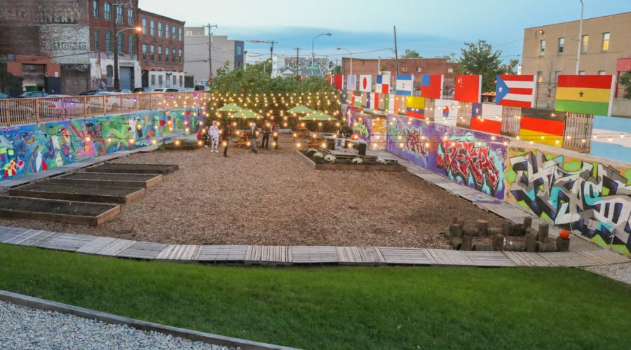 Sunflower Philly Outdoor Community Space